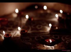 Diwali lights (Sudhamshu) Tags: india home festival lights bokeh decoration perspective outoffocus lamps diwali arrangement 50mmf14 kolam deepavali