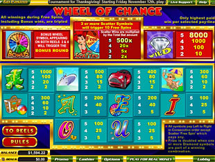 free5 Reel Wheel Of Chance slot mini symbol