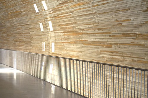 Light, lines and wood at Charles de Gaulle