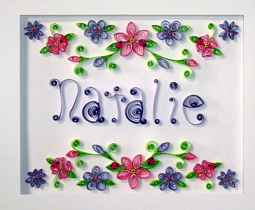 Paper Quilling Custom order in 11X14 shadowbox frame