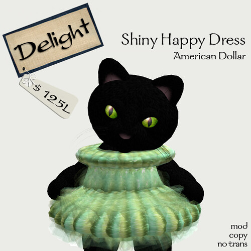 ~Delight~Shiny Happy Dress (in American Dollar colors)
