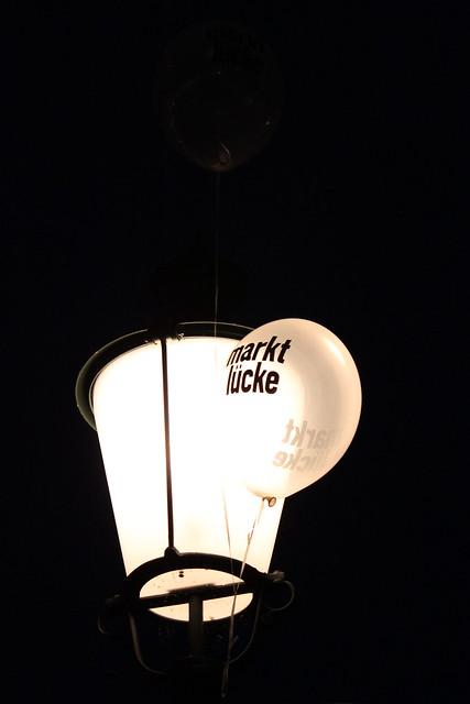 Strassenlaterne Marktlücke-Ballon