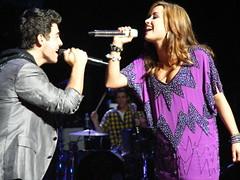 Joe Jonas and Demi Lovato Boston, MA (lydiaouellette) Tags: 2 camp rock boston ma concert kevin tour dancers brothers live massachusetts nick august joe 25 demi jonas 2010 lovato
