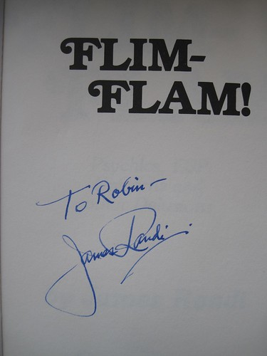 Signed by James Randi