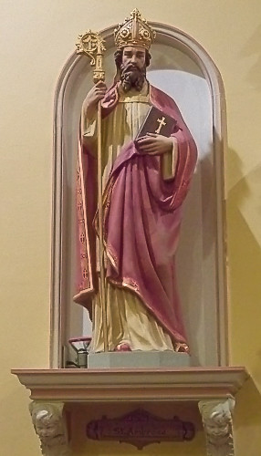 Saint Ambrose Church, in Saint Louis, Missouri - statue of Saint Ambrose 2