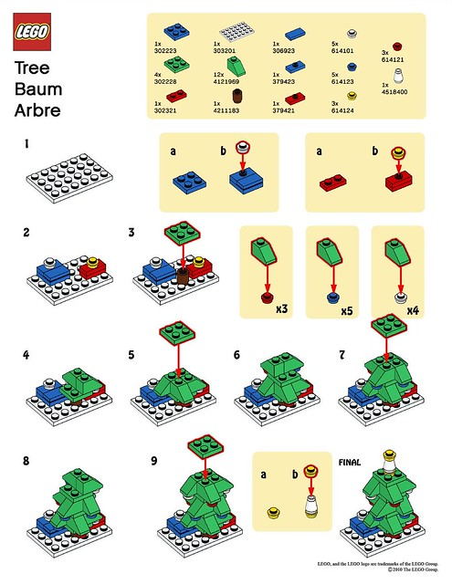 Lego - instructions for building a tree