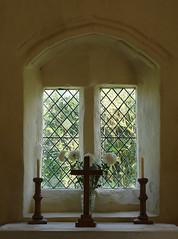 Altar and Window (tjsphotobrigg) Tags: uk england church window village cross lincolnshire leaded candlesticks markby