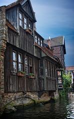 Brujas, Brugge, casas medievales en el Dijver (Angel Villalba) Tags: water rio angel buildings river edificios agua belgium bridges medieval puentes bruges brujas channels dijver villalba bélgica canales medievales anvifo