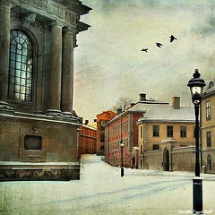 The Riddarholmen Church (Milla's Place) Tags: winter snow church buildings cityscape sweden stockholm textures lantern textured riddarholmen riddarhomskyrkan pareeerica alicepopkorn tatot skeletalmess magicunicornverybest magicunicornmasterpiece truthillusion