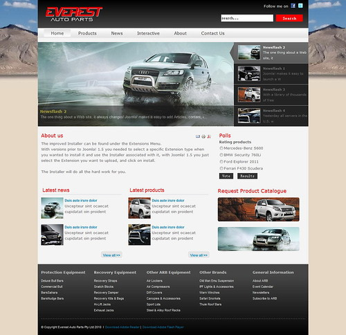 Mega Everest - Auto Showroom Joomla template