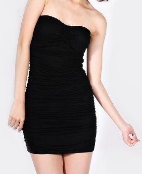 LOVEBONITO Grunge Tube Dress Black $28 PTP13-17 L 23