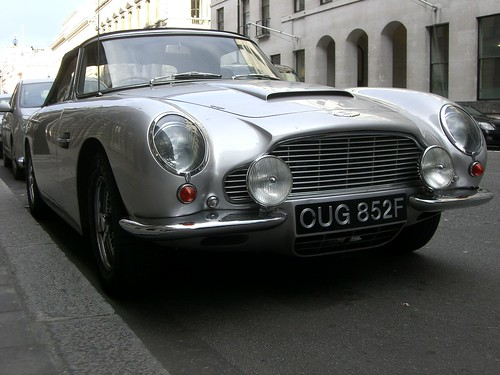 Aston Martin DB5 on Pall Mall, London W1
