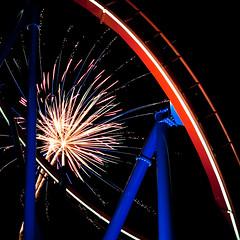fourth of july theme (flee the cities) Tags: night track fireworks kansascity missouri bm patriot pylons themepark pyrotechnics bolligermabillard worldsoffun cedarfair celebrateamerica