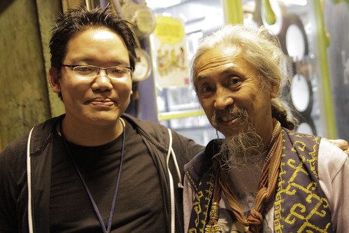 With godfather of Filipino films Kidlat Tahimik