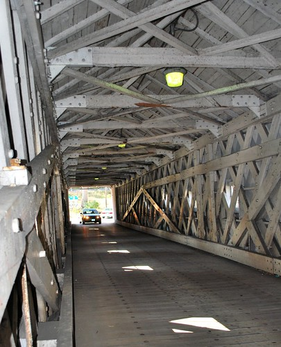 Inside the West Cornwall Covered Bridge