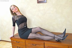 02 (olafalday1) Tags: stockings highheels dress legs tights hose heels hosiery pantyhose shortskirts nylons anklestrap