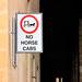 No horse cabs
