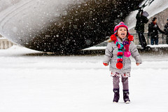 Catching Snowflakes (The New No. 2) Tags: snowflake snow chicago cold girl hat weather museum scarf fun colorful child gbrearview wind snowy interior bean millennium millenniumpark chicagoist johncrouch johncrouchphotography crouchphotos