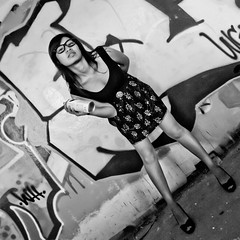 Did I Say Too Much (Thomas Hawk) Tags: bw usa abandoned graffiti model unitedstates florida miami unitedstatesofamerica marinestadium virginiakey miamimarinestadium annanguyen zeeanna