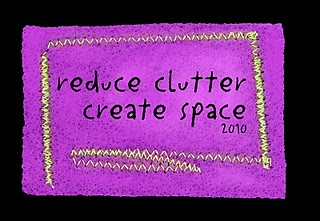 Reduce Clutter; Create Space purple