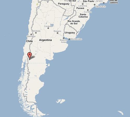 Patagonia Argentina Map. Bariloche Argentina