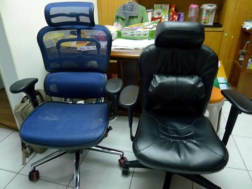 Ergohuman 111 與 原來的辦公椅