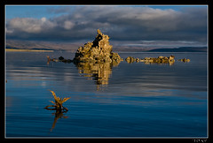 Deep Blues of Mono Lake (jeandayphotography.com) Tags: california ca lake mountains water clouds sunrise reflections october desert monolake tufa 2010 leevining mhw jday easternsierranevada jeanday mountainhighworkshops