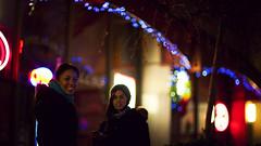 . (thericyip.com) Tags: street winter girls light toronto night bokeh 169 canoneos5d canon85mmf12lmarkii