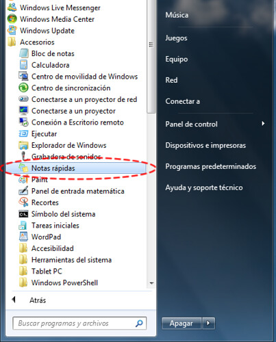 descargar notas rapidas windows 7
