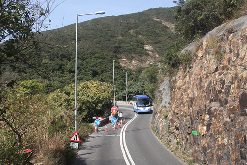 Travelling from Stanley towards Central on Wong Nai Chung Gap Road