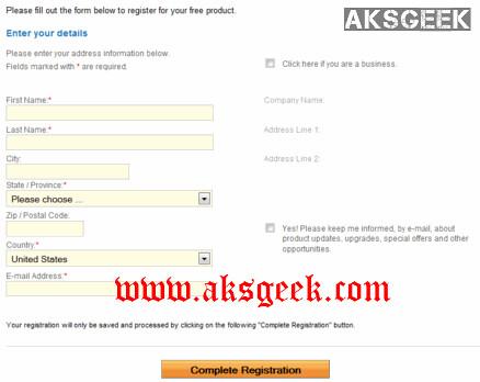 system tweaker 2011 registration detail