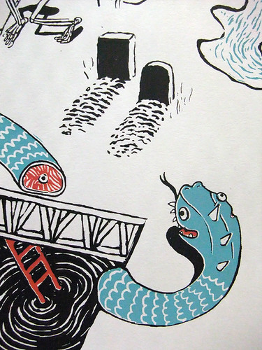 The Wanderin' Mind, Screenprinted! detail