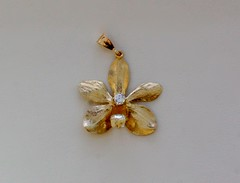 orchid with diamond (jamespicht) Tags: orchid jewelry gems gem enamel