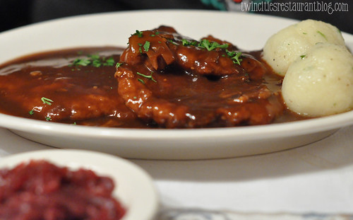 Jagerschnitzel at Gasthaus Bavarian Hunter ~ Stillwater, MN