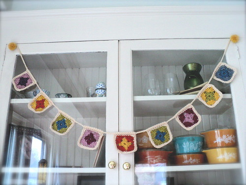 rainbow bright granny garland
