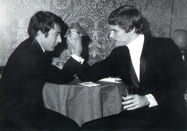 Dustin Hoffman and Keir Dullea