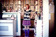 Dressed like a 5 year old. (Sherri DuPree Bemis) Tags: art coffee comics book addict sherri dupree eisley bemis tulleskirt sockittome unicornsocks