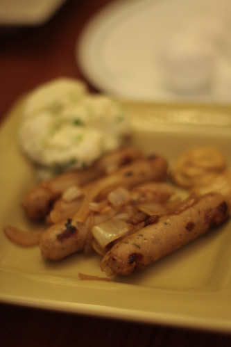 brats and potato salad