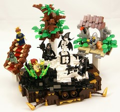 Keepers (Bart De Dobbelaer) Tags: castle lady pig lego guard fantasy vignette keeper minion witchsquest