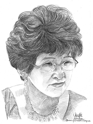 portrait in pencil - 2