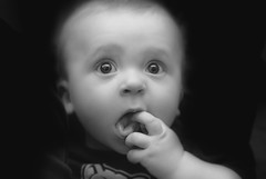 Charlie (BHagen) Tags: portrait blackandwhite bw baby kids eyes nikon flash d90