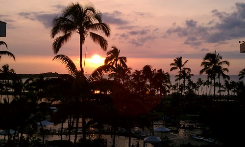 Sunset on Christmas Day in Kona
