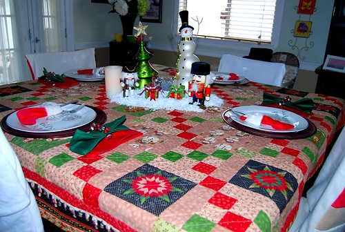 MIL's quilt turned table cloth