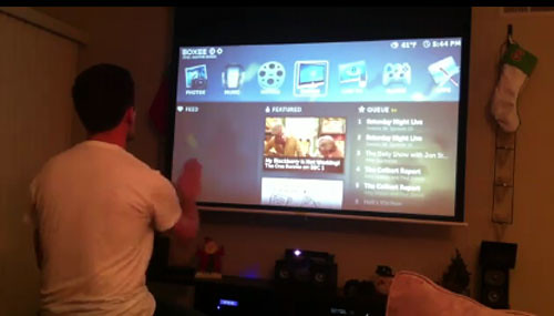 Kinect becomes gesture remote for Boxee and XBMC