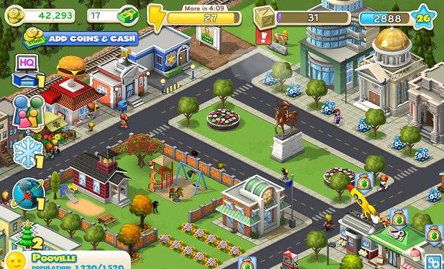 CityVille Zynga game in Facebook