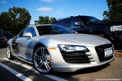 Audi R8 (sledhockeystar7) Tags: street silver nikon parking lot spot americana parked dslr audi r8 d3000 sledhockeystar7