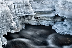 Ice Formations (Billy Wilson Photography) Tags: longexposure winter ontario canada motion cold detail ice nature wet water beautiful digital creek photoshop canon river landscape outdoors eos rebel frozen movement stream soft natural victorian kitlens fast icicle brook editing guide xs icicles tutorial saultstemarie northernontario algoma cs4 billywilsonphotography