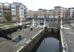 Brentford, Greater London (IamRender) Tags: england london heritage water boat canal lock gates transport housing british greater narrow barge hounslow narrowboat brentford grandunioncanal waterways barges 1790