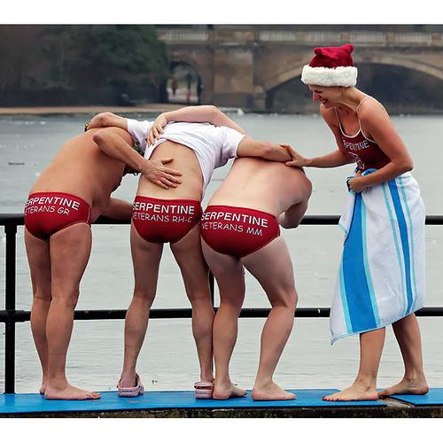 Serpentine Swimming Club Christmas Day dip