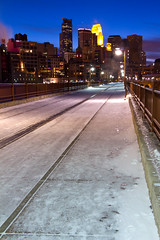 Stone Arch Bridge (MDCPhotographic) Tags: usa snow cold minnesota america downtown minneapolis newyearsday stonearchbridge 2011 frozenfingers